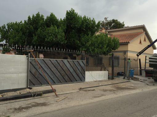 Montaje de puerta y valla